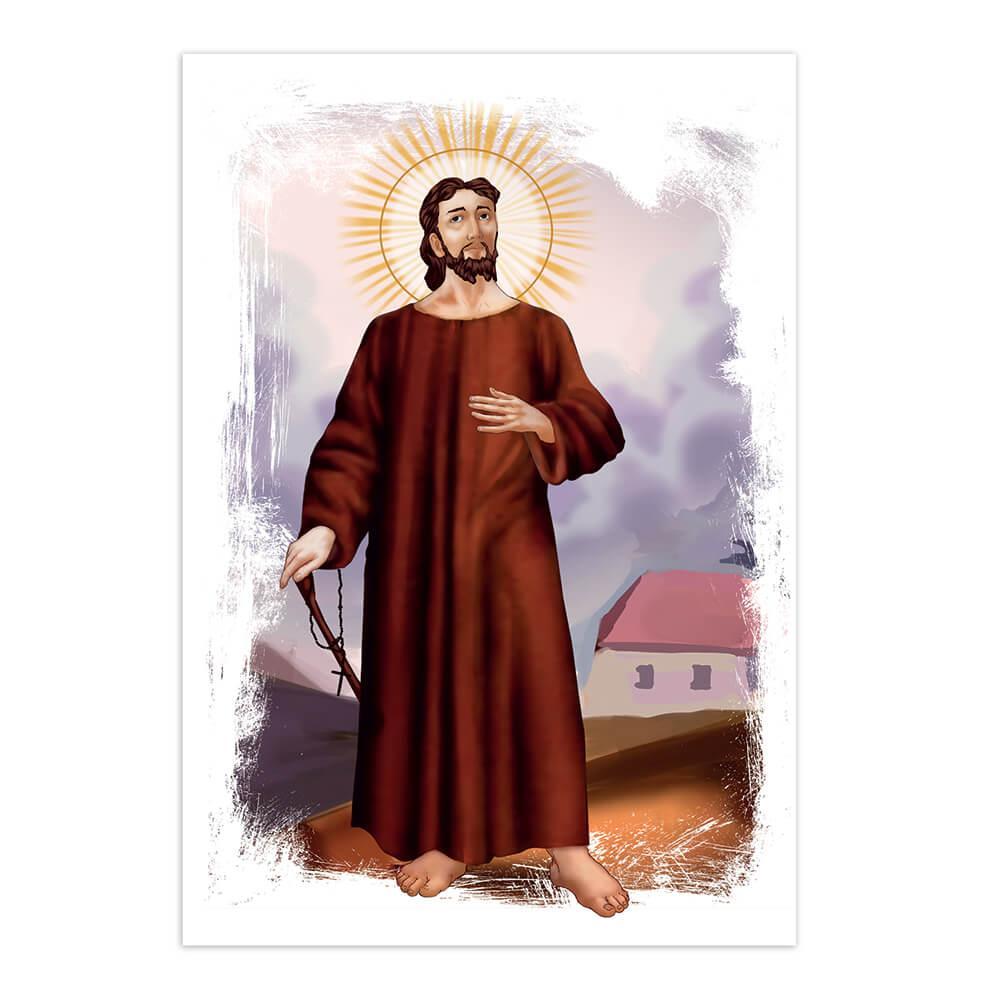 Saint Nicholas Of Flue : Gift Sticker Christian Catholic Church Religious Swiss Holy