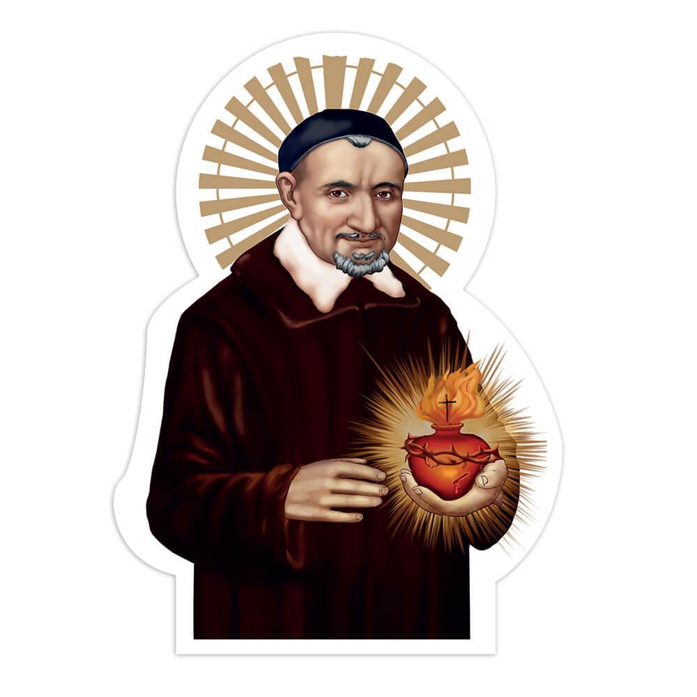 Saint Vincent De Paul : Gift Sticker Catholic Religious Church Heart Christian