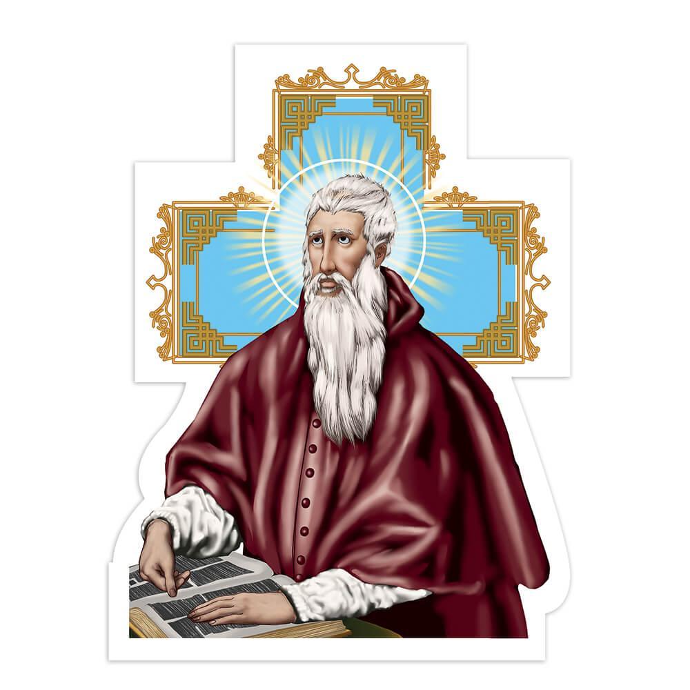 Saint Jerome : Gift Sticker San Jeronimo Catholic Religious Christian Church Bible Cross