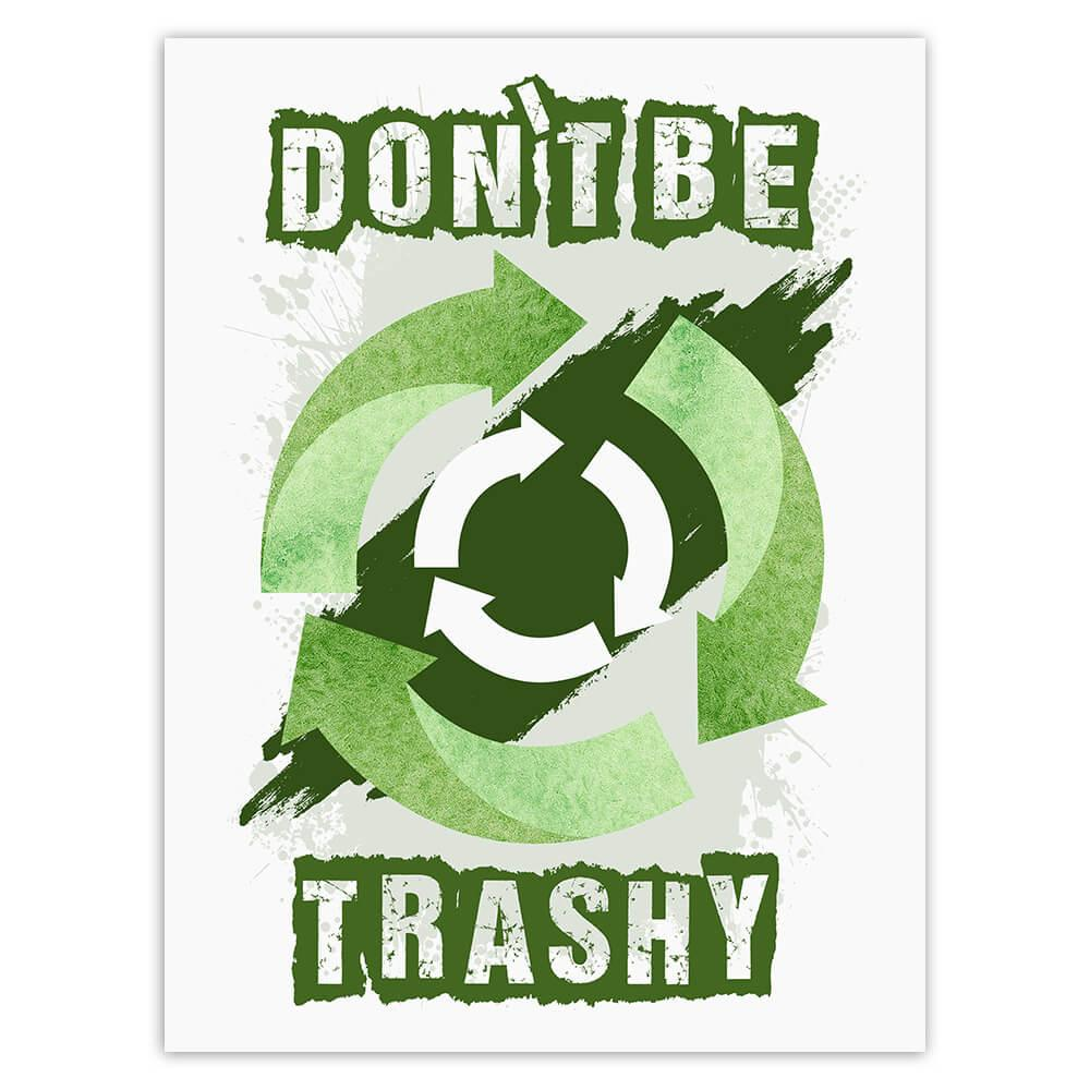 Recycling Sign Go Green : Gift Sticker Recycle Reuse Climate Friendly Ecology Organic