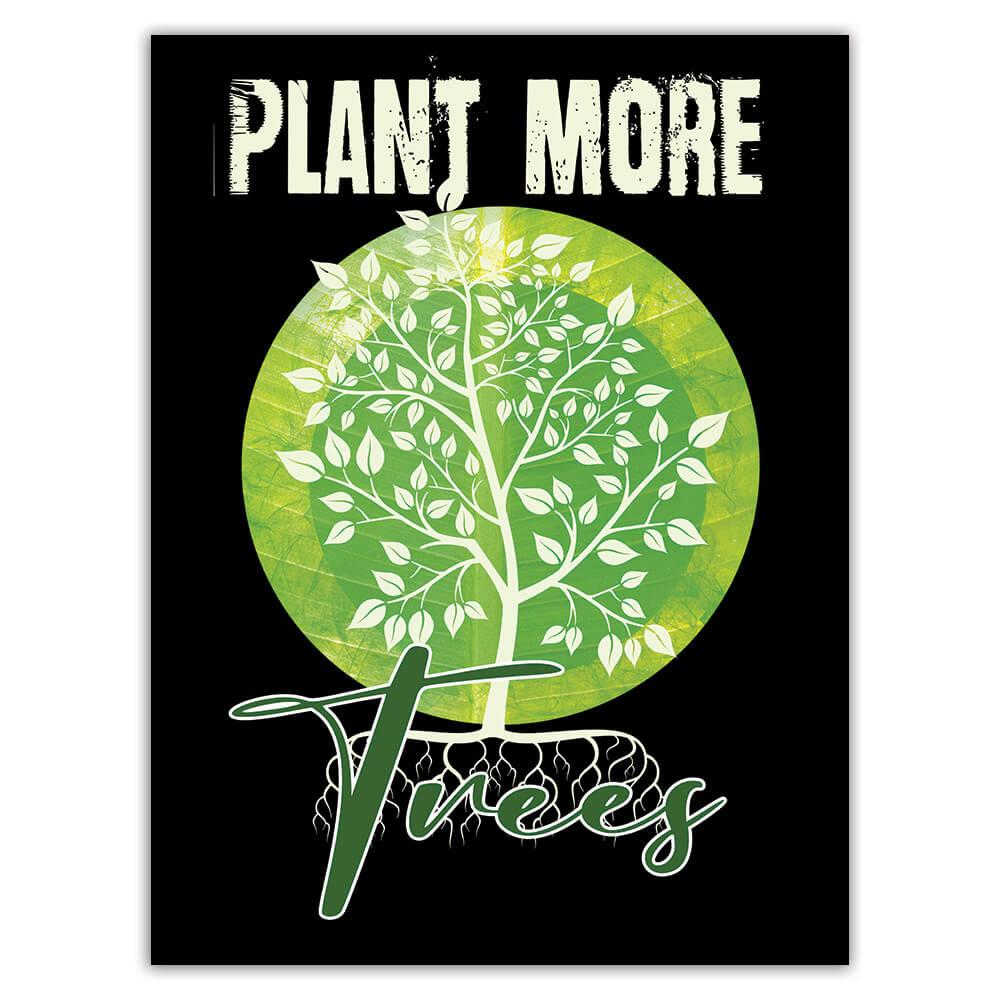 Plant More Trees Love Plants : Gift Sticker Nature Protection Climate Friendly Green Power