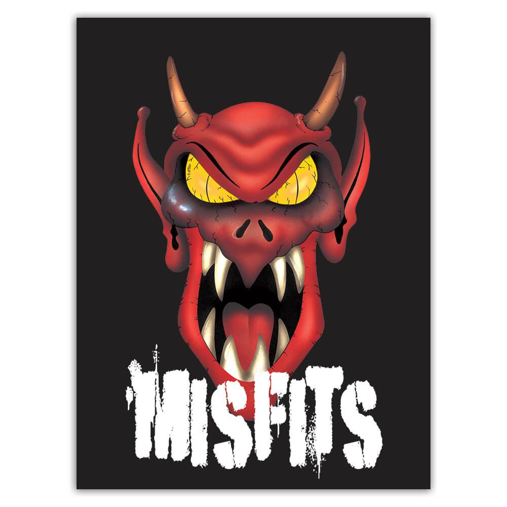 Red Devil Monster : Gift Sticker Halloween Party Decor Scary Mask Diy Costume Teens