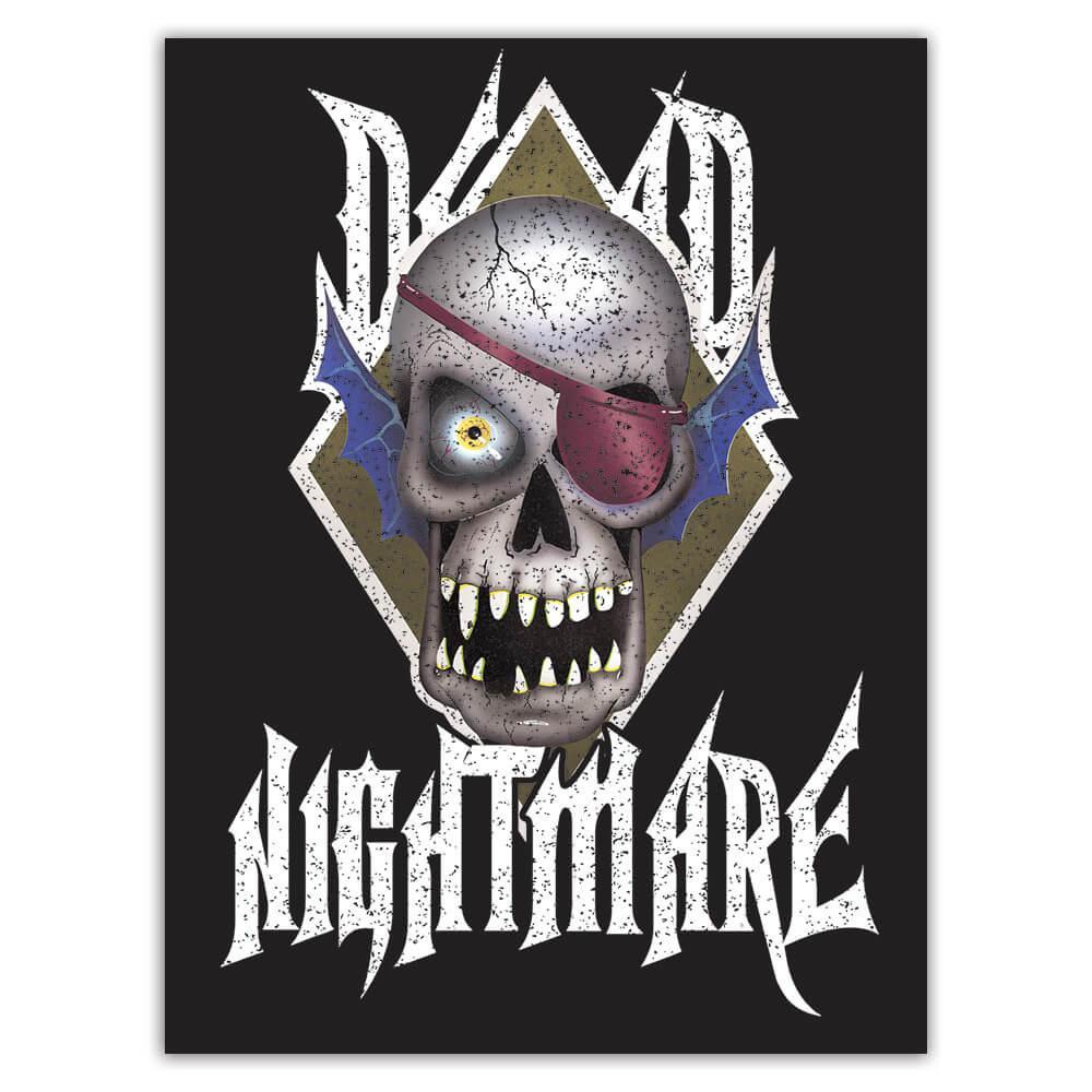 Nightmare Ugly Skull : Gift Sticker Halloween Mask Horror Movie Monster Zombie Teens