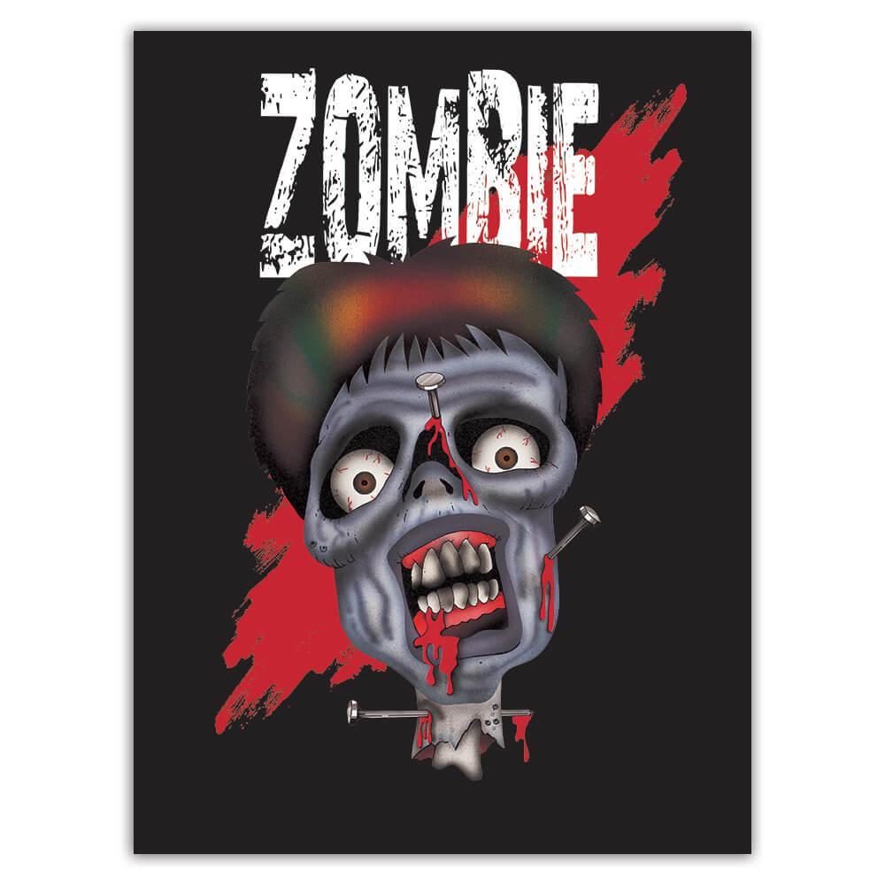 Zombie Blood : Gift Sticker Living Dead Halloween Party Monsters Horror Movie Skull