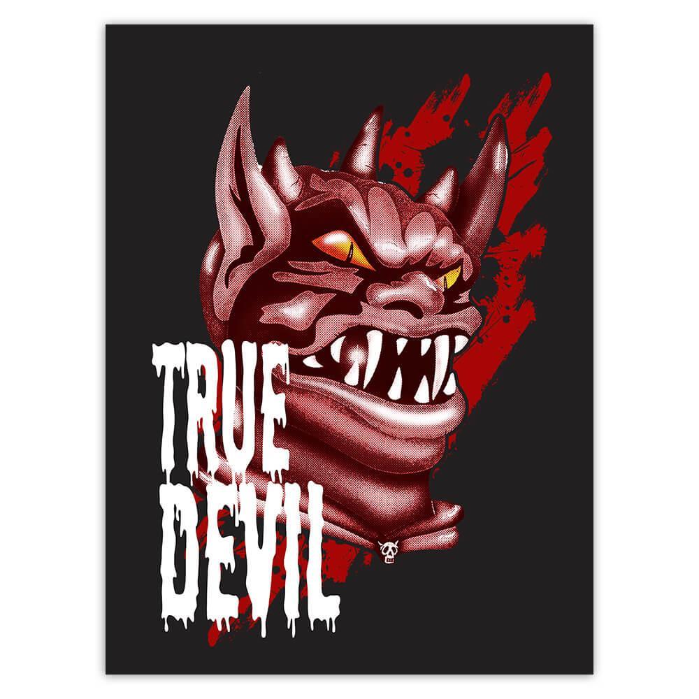 True Devil Ugly Monster : Gift Sticker For Halloween Party Decor Horror Horrible Autumn
