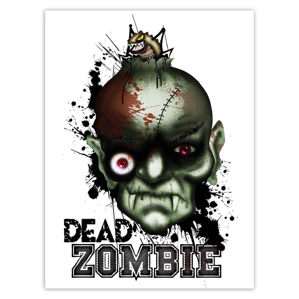 Dead Zombie : Gift Sticker Monster Face Living Halloween Mask Horrible Horror