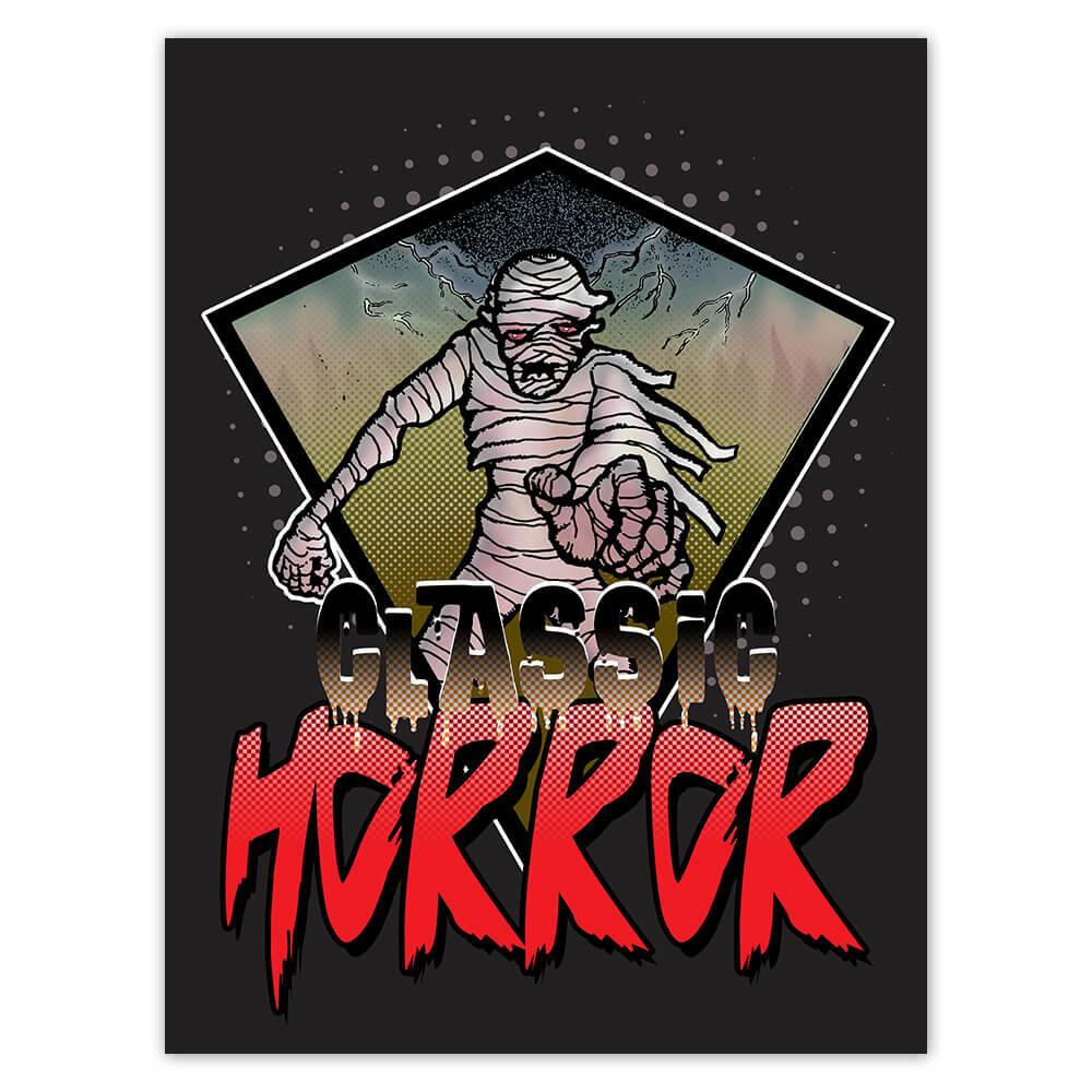 Classic Horror Mummy Movie : Gift Sticker Halloween Holiday Fall Time Monsters Zombie