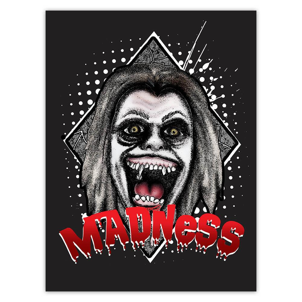 Madness Horror Face Movie : Gift Sticker Halloween Clown Skull Zombie Living Dead