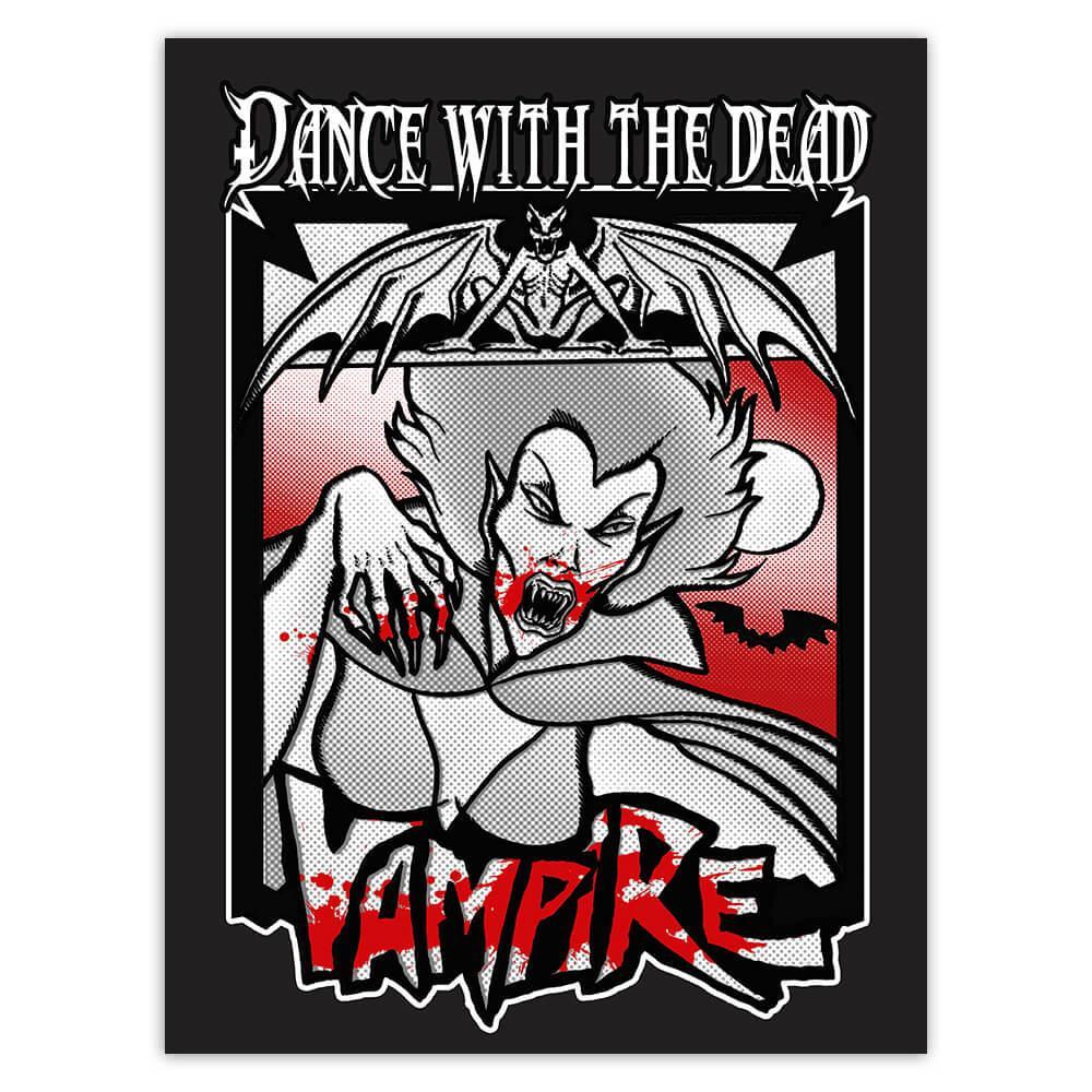 Vampire Blood Drinker : Gift Sticker Horror Movie Halloween Monster Zombie For Teens