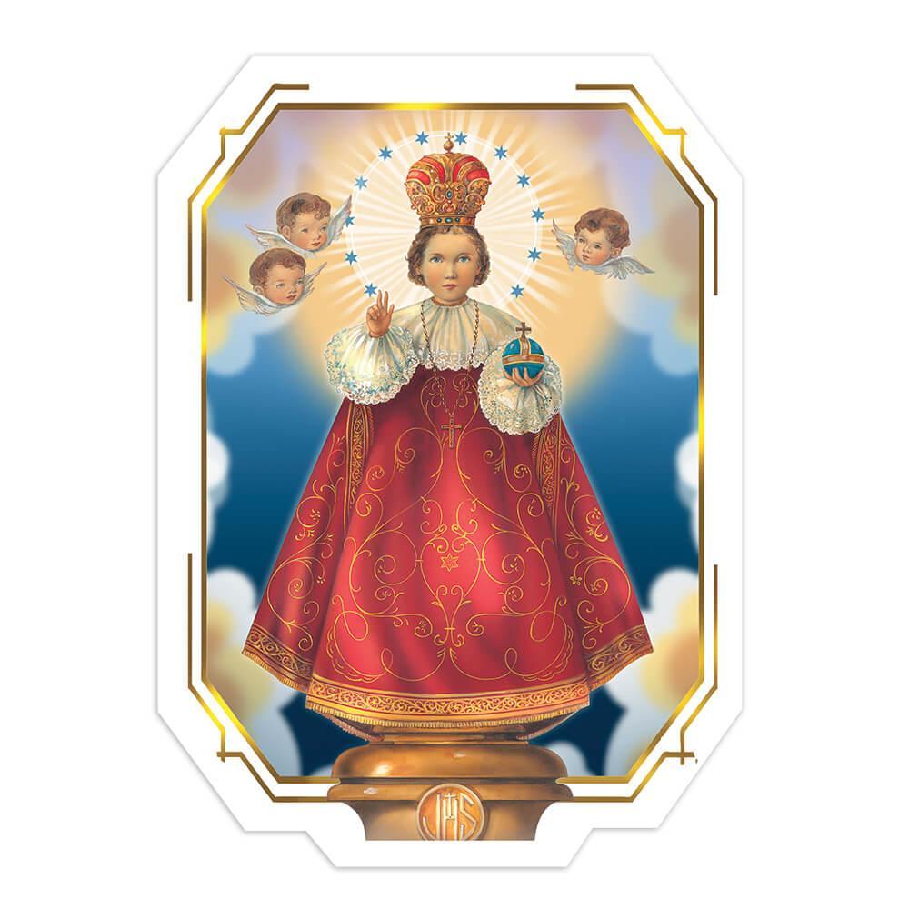 Baby Jesus Of Prague : Gift Sticker Nino De Praga Catholic Saint Christian Child