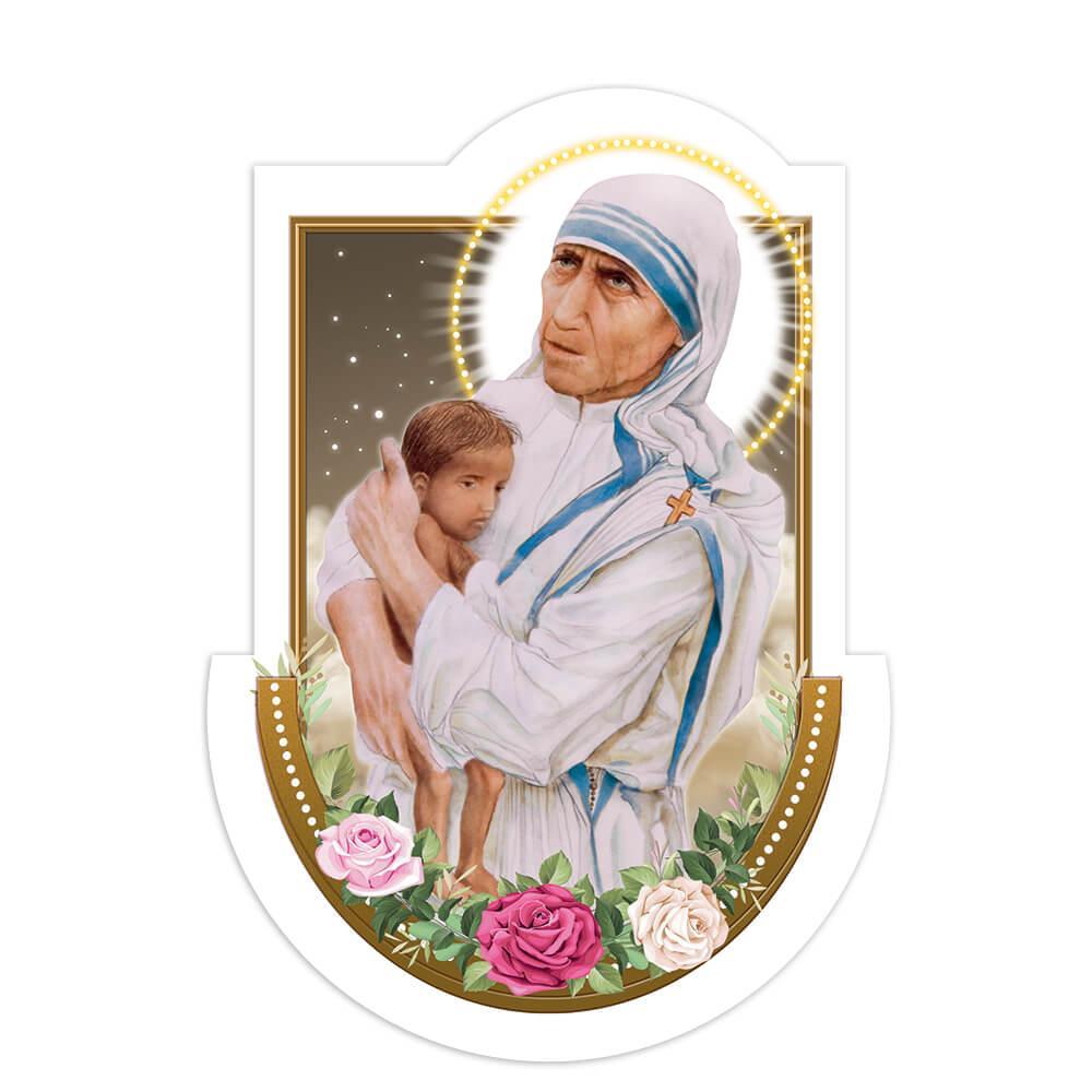 Mother Teresa Child : Gift Sticker Baby Saint Catholic Madre Christian Roses Love