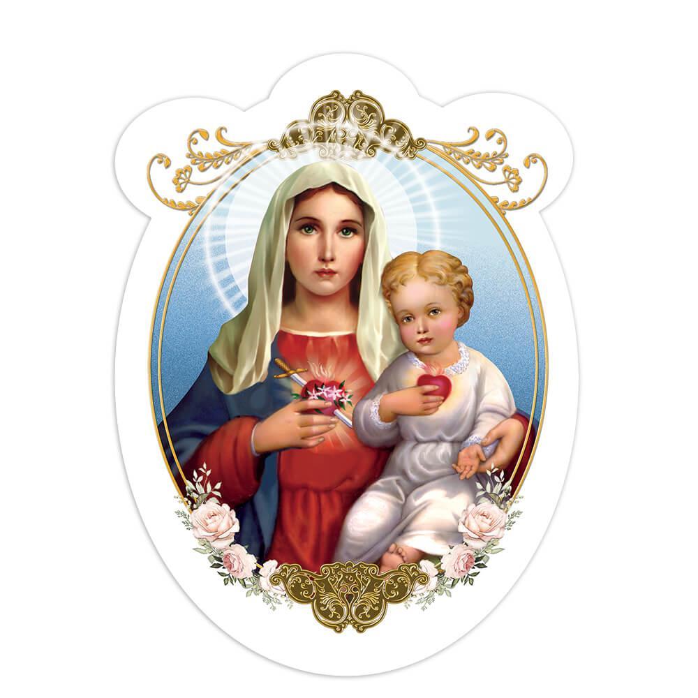 Our Lady Of Sorrows : Gift Sticker Sagrado Corazon Baby Jesus Catholic Christian Dolores