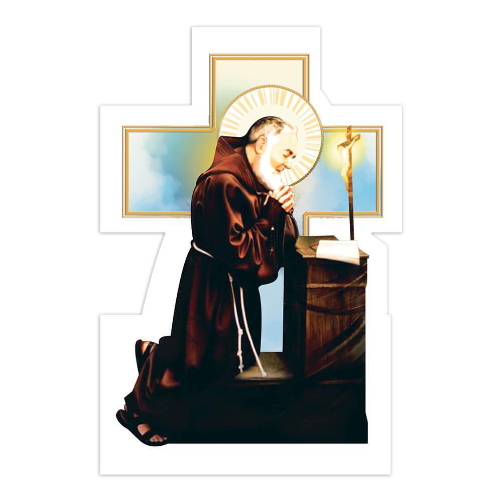 Saint Pio : Gift Sticker Padre Of Pietrelcina Catholic Church Religious Christian