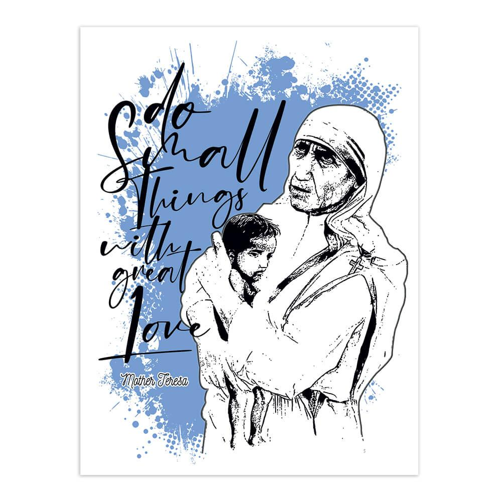 Mother Teresa Baby Child : Gift Sticker Saint Catholic Religious Madre Christian