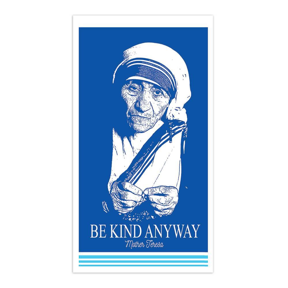 Saint Mother Teresa : Gift Sticker Catholic Religious Santa Madre Christian