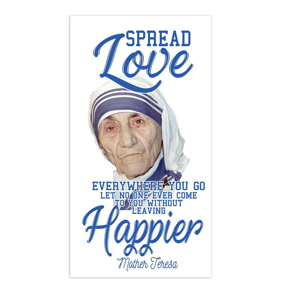 Mother Teresa Spread Love : Gift Sticker Catholic Christian Madre Religious Saint