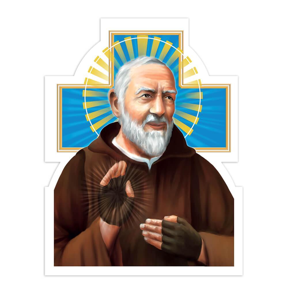 Saint Pio Of Pietrelcina Cross : Gift Sticker Padre Catholic Religious Christian Church