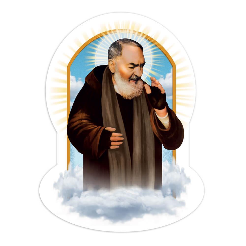 Saint Pio Of Pietrelcina Clouds : Gift Sticker Religious Catholic Padre Christian