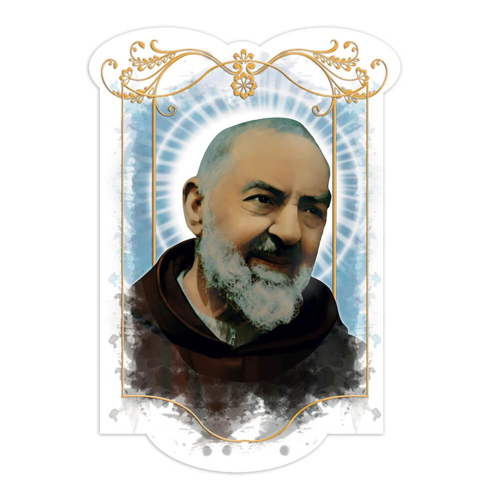 Saint Pio Of Pietrelcina : Gift Sticker Catholic Religious Padre Christian Church