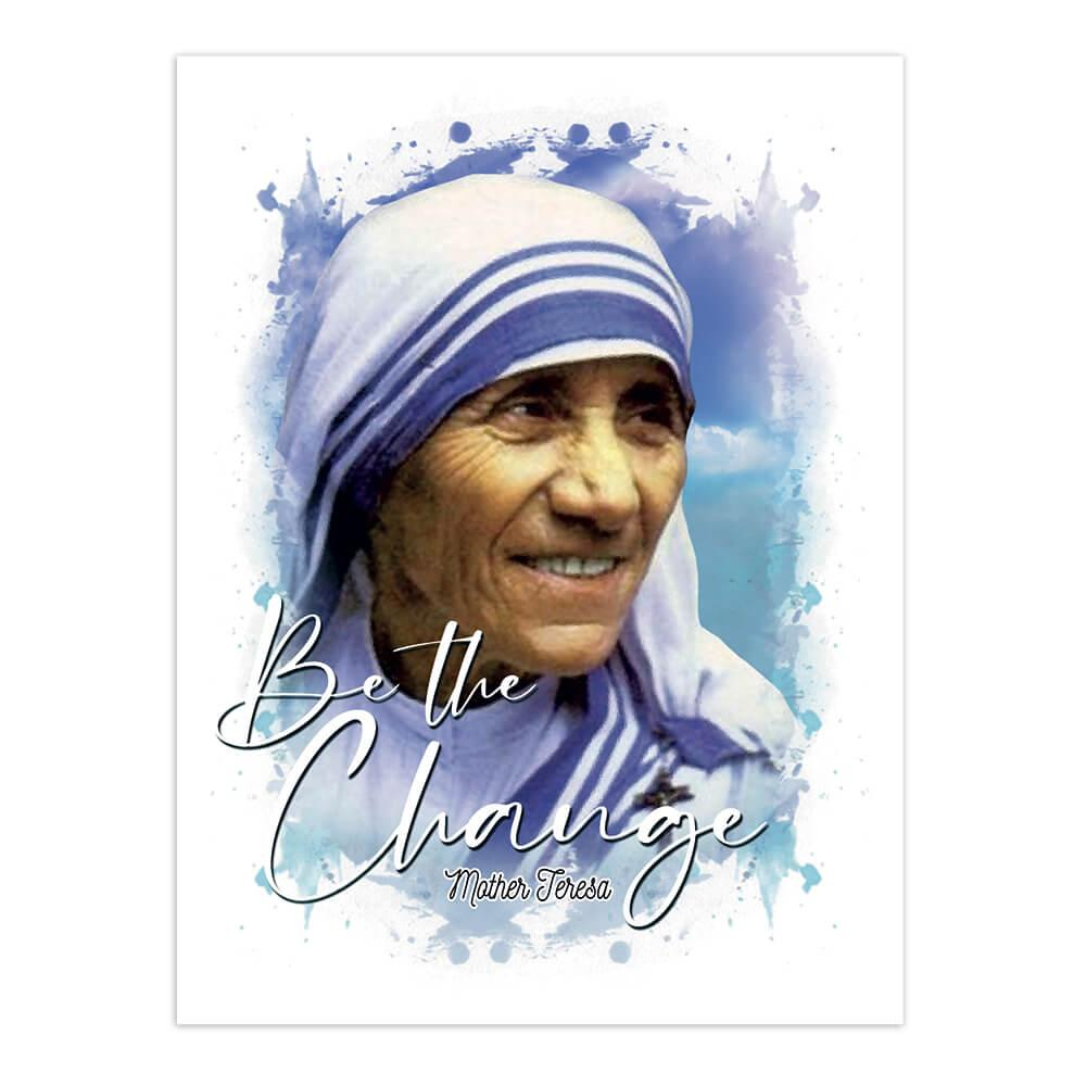 Mother Teresa : Gift Sticker Catholic Religious Madre De Calcuta Saint Christian