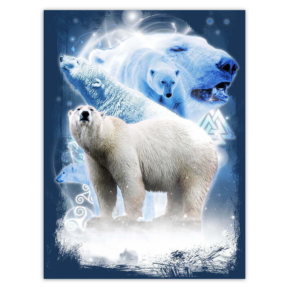 Savage Polar Bear : Gift Sticker Winter Wild Animal Wildlife Photography Alaska Wall Poster