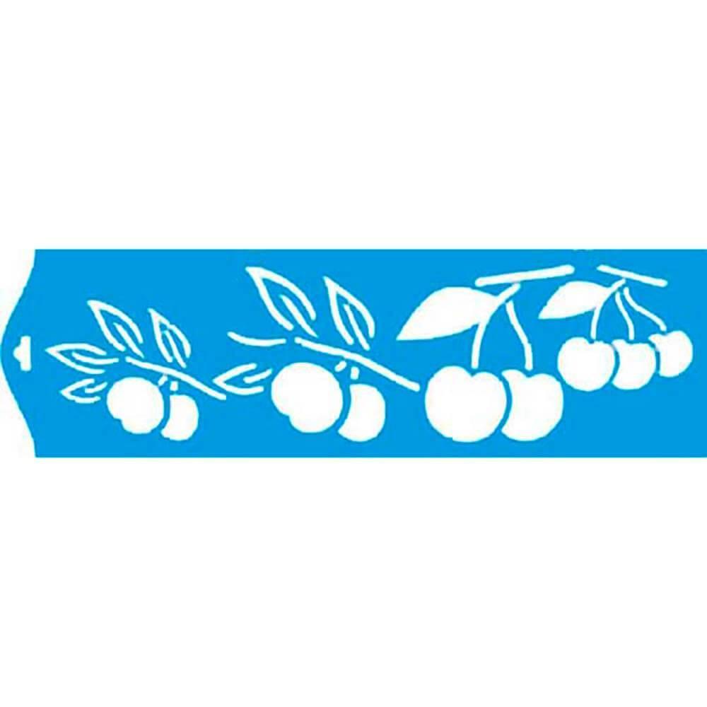 Cherry 11.02 x 1.57 in : Diy Reusable Laser Cut Stencils 28x4cm Durable Airbrush