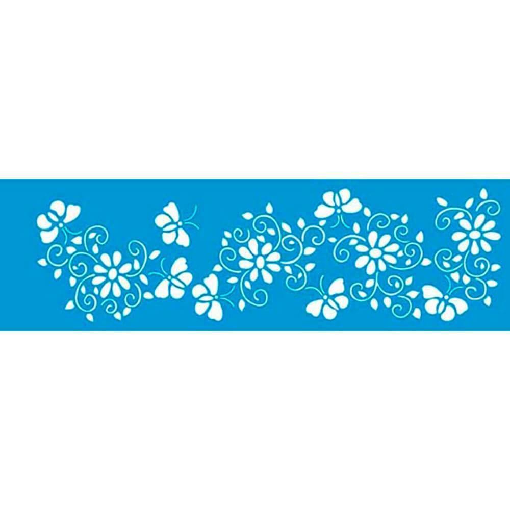 Flower 11.02 x 1.57 in : Diy Reusable Laser Cut Stencils 28x4cm Ornament Border