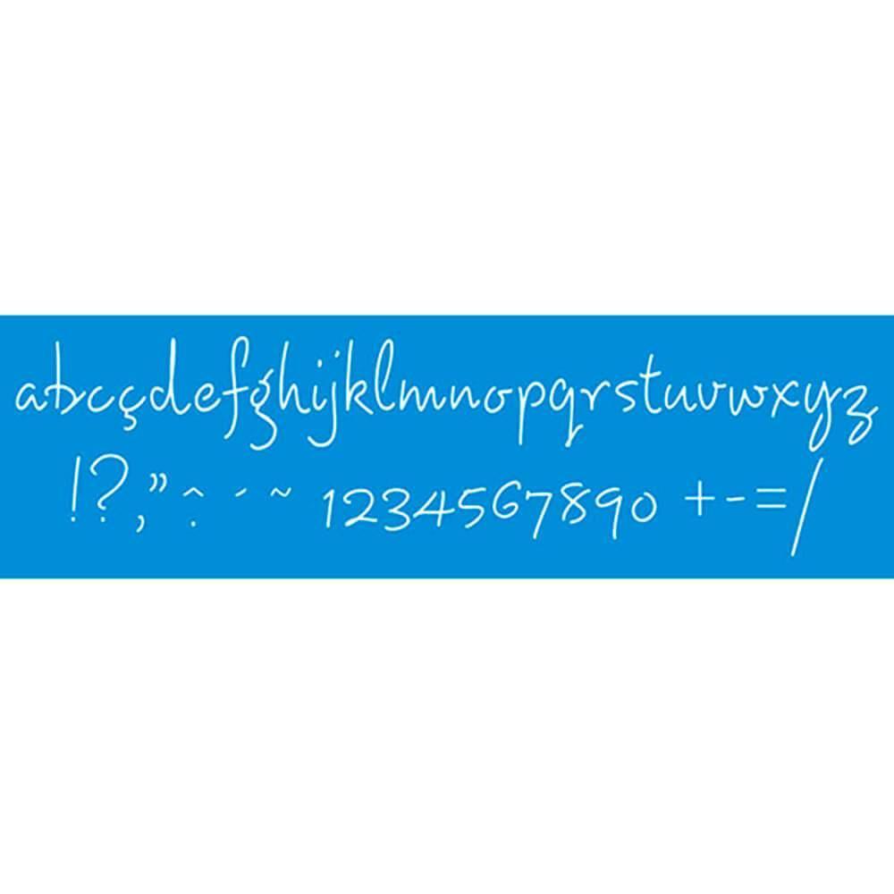 Letters 11.02 x 1.57 in : Diy Reusable Laser Cut Stencils 28x4cm Border Wall