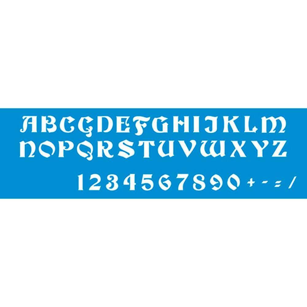 Letters 11.02 x 1.57 in : Diy Reusable Laser Cut Stencils 28x4cm Durable