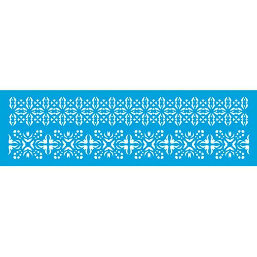 Abstract 11.02 x 1.57in : Diy Laser Cut Stencils 28x4cm Ornament Border Pattern