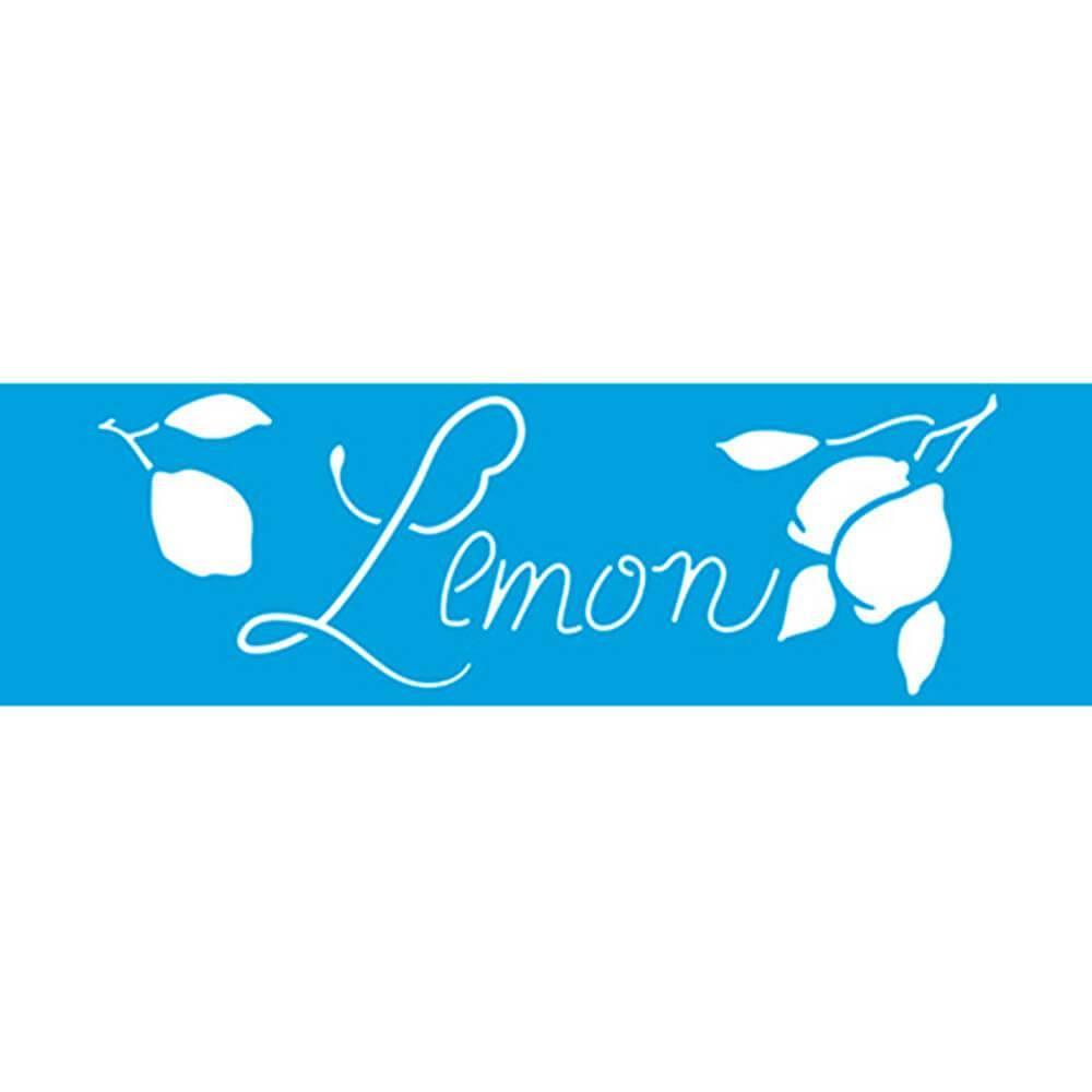 Lemon 11.02 x 1.57 in : Diy Reusable Laser Cut Stencils 28x4cm Durable Airbrush