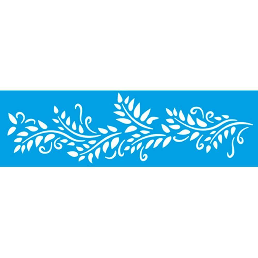 Leave 11.02 x 3.3 in : Diy Reusable Laser Cut Stencils 28×8,4cm Ornament Border