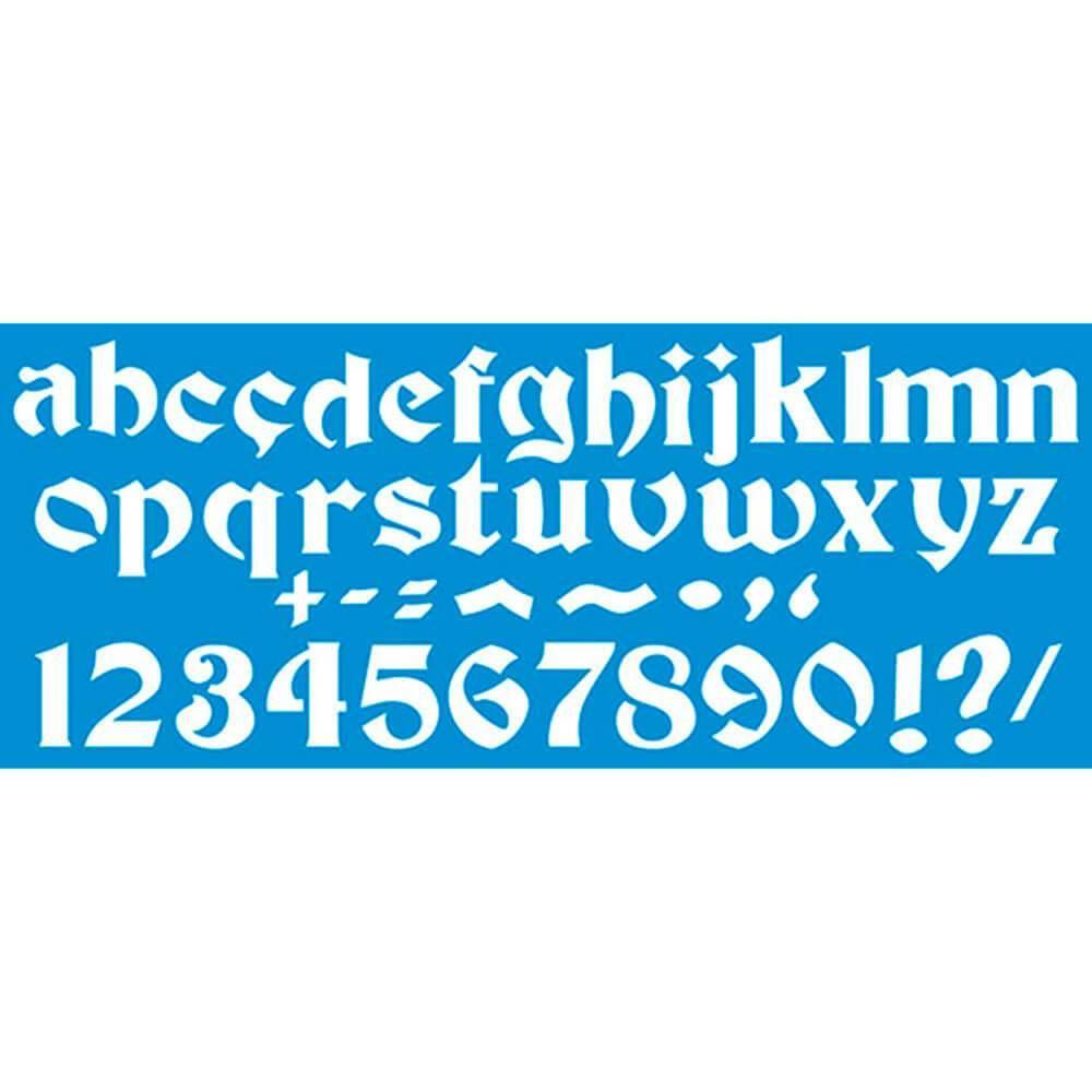 ABC 16 1/2 x 6 3/4 in : Diy Reusable Laser Cut Stencils 42×17 Cm Durable