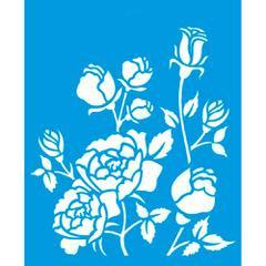Roses 6 3/4 x 8 1/4 in : Diy Reusable Laser Cut Stencils 17x21cm Durable