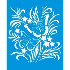 Butterfly 6 3/4 x 8 1/4 in : Diy Laser Cut Stencils 17x21cm Bouquet Fabric