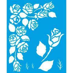 Roses 6 3/4 x 8 1/4 in : Diy Reusable Laser Cut Stencils 17x21cm Flowers Bouquet