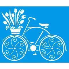 Bicycle 6 3/4 x 8 1/4 in : Diy Reusable Laser Cut Stencils 17x21cm Durable