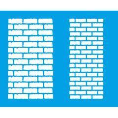 Bricks 6 3/4 x 8 1/4 in : Diy Reusable Laser Cut Stencil 17x21cm Durable