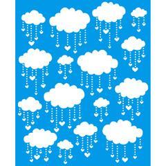 Cloud 6 3/4 x 8 1/4 in : Diy Reusable Laser Stencils 17x21cm Durable Airbrush