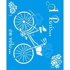 Bicycle 6 3/4 x 8 1/4 in : Diy Laser Cut Stencils 17x21cm Flower Bouquet Fabric