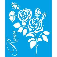 Roses 6 3/4 x 8 1/4 in : Diy Reusable Laser Stencils 17x21cm Wood Fabric Pattern