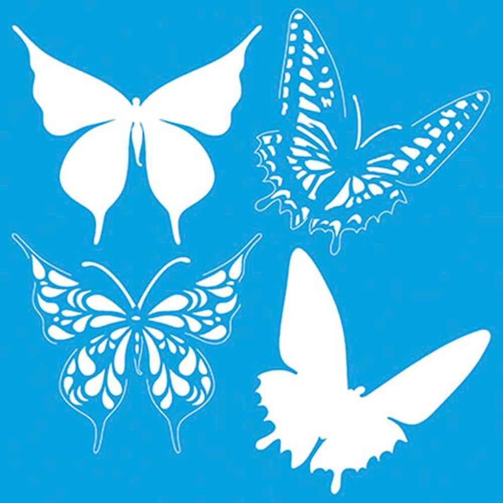 Butterfly 8 x 8 in : Diy Reusable Laser Cut Stencils 20x20cm Durable Airbrush