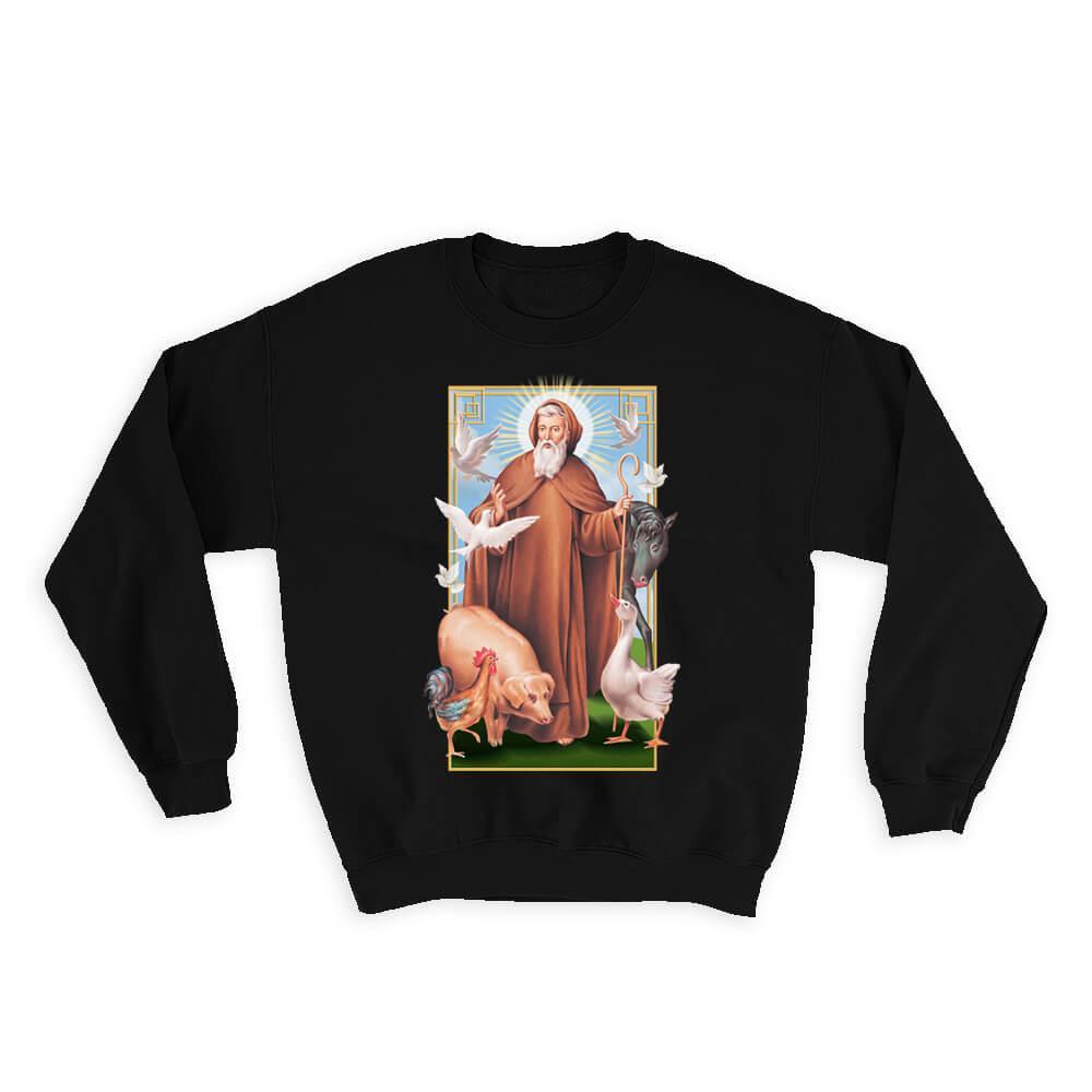 Saint Anthony of Egypt Santo Antão San Antonio Abad : Gift Sweatshirt Catholic Saints Religious Saint Holy God