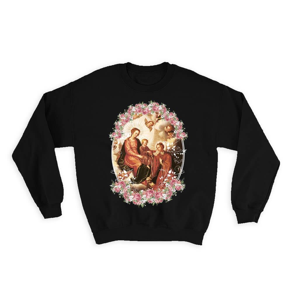 Saint Agnes Santa Ines : Gift Sweatshirt Catholic Saints Religious Saint Holy God