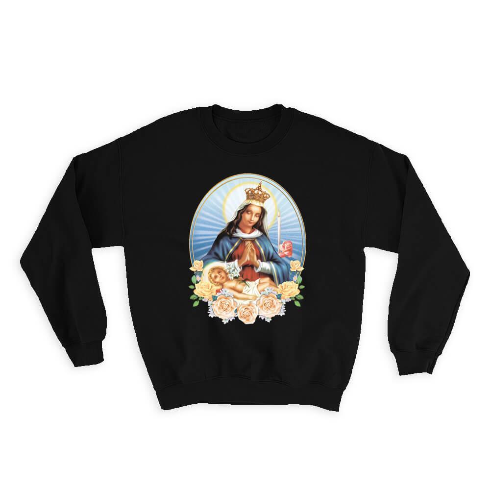 Our Lady of Altagracia Virgen de Altagracia : Gift Sweatshirt Catholic Saints Religious Saint Holy God