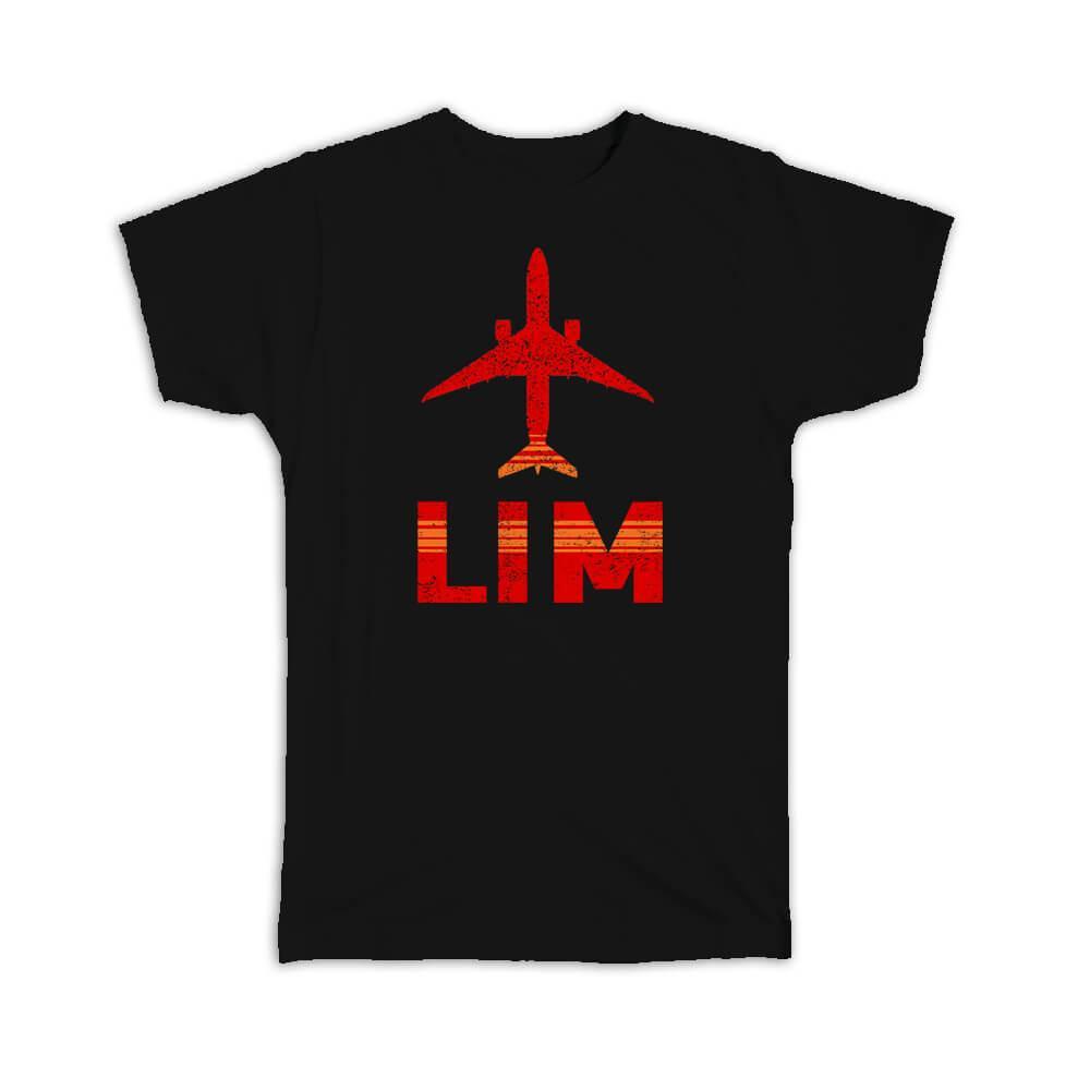 Peru Jorge Chávez Airport Lima LIM : Gift T-Shirt Travel Airline Pilot AIRPORT