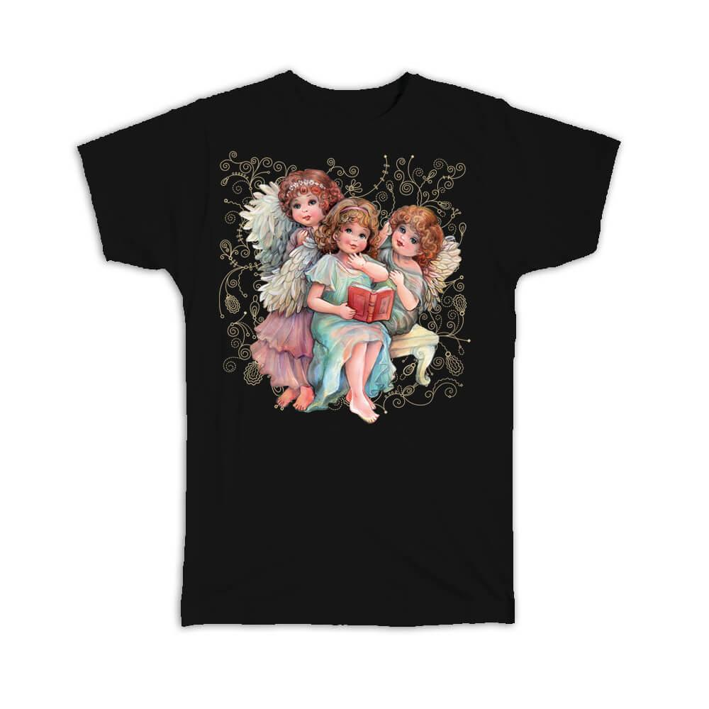 Angels Reading : Gift T-Shirt Catholic Esoteric Victorian Religious