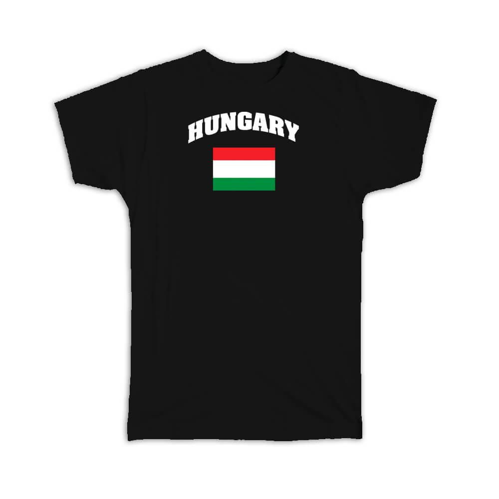 Hungary : Gift T-Shirt Flag Chest Hungarian Expat Country Patriotic Flags Travel Souvenir