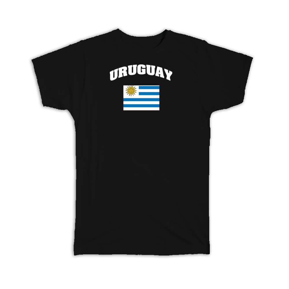 Uruguay : Gift T-Shirt Flag Chest Uruguayan Expat Country Patriotic Flags Travel Souvenir