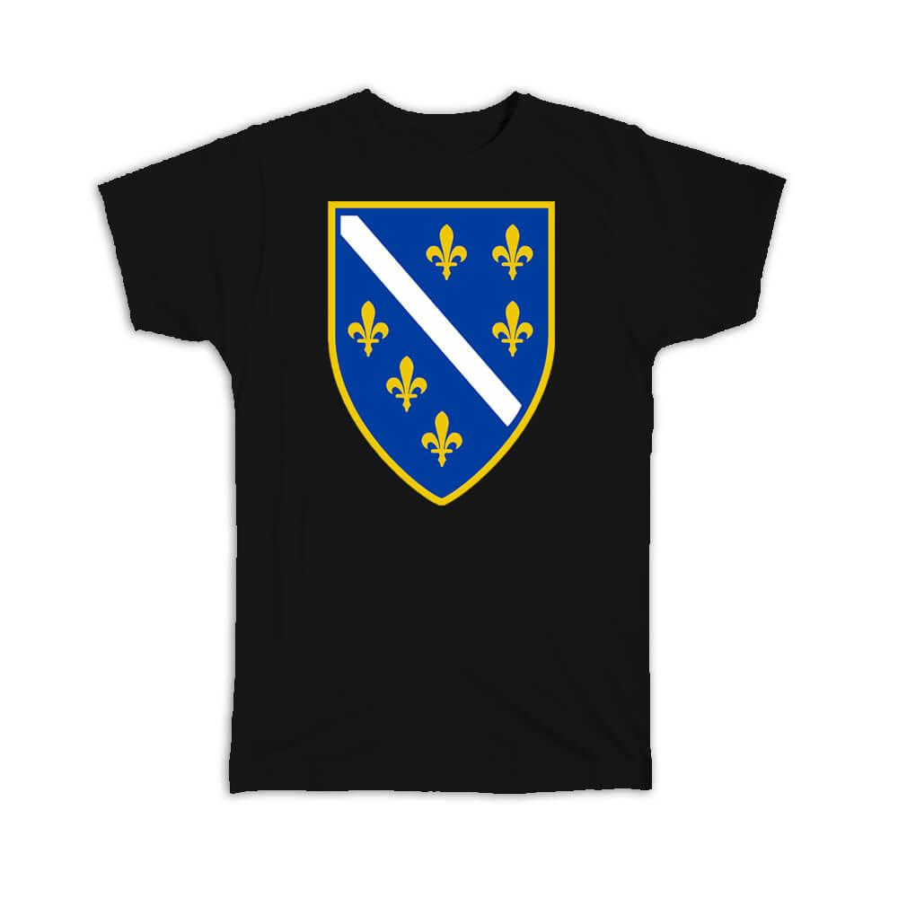Bosnian Crest : Gift T-Shirt Flag Bosnia Herzegovina Expat